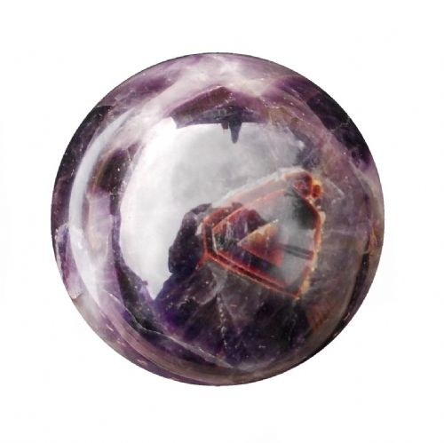Amethyst Gemstone Healing Feng Shui Ball 68mm 420g (AB18)